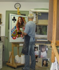 Image of Aron Hart in his studio.