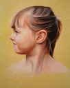 © 2011 Aron Hart, Portrait of Lottie, Oil on Paper, 16 x 16 inches.