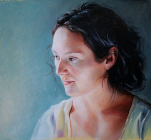 © 2011 Aron Hart, Portrait of Caroline, Oil on Paper, 22 x 15 inches.