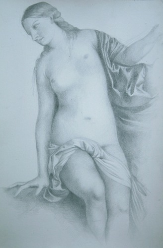 © 2013 Aron Hart, Titian master copy, gold point on prepared paper